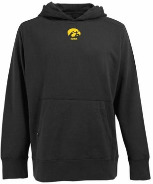 Iowa Mens Signature Hooded Sweatshirt (Team Color: Black)