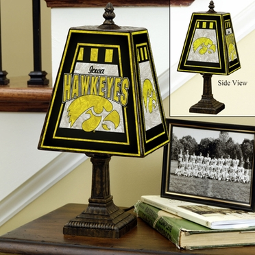 Iowa Small Art Glass Lamp