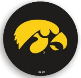 Iowa Hawkeyes Black Tire Cover - Standard Size