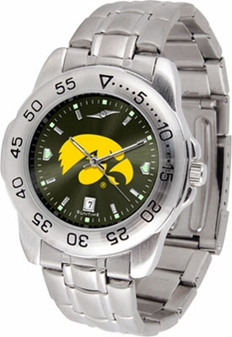 Iowa Sport Anonized Men's Steel Band Watch