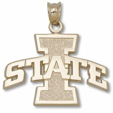 Iowa State 10K Gold Pendant