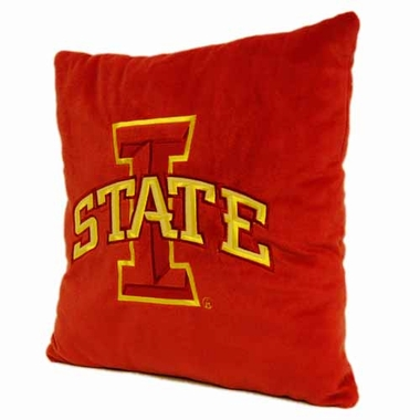 Iowa State 15 Inch Applique Pillow