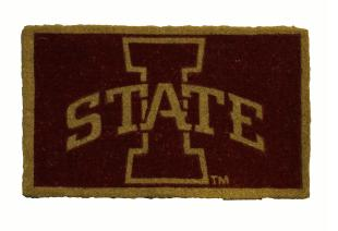 Iowa State 18x30 Bleached Welcome Mat