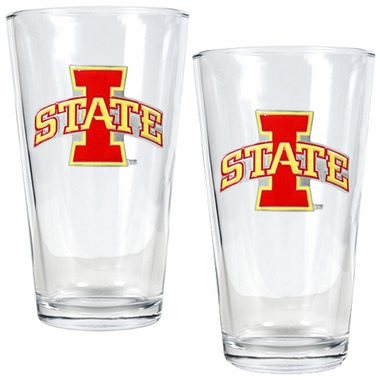 Iowa State 2 Piece Pint Glass Set