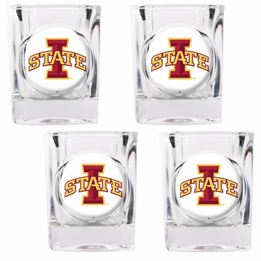 Iowa State 4 Piece Shot Glass Set
