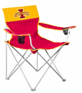 Iowa State Big Boy Adult Folding Logo Chair