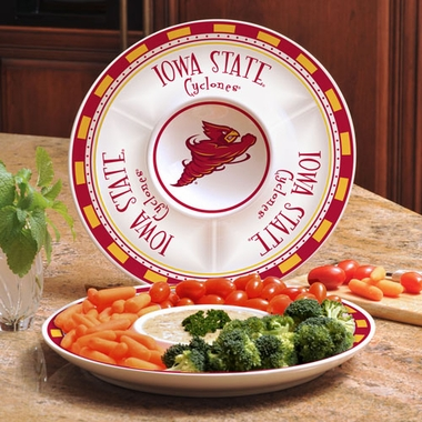 Iowa State Ceramic Chip and Dip Plate
