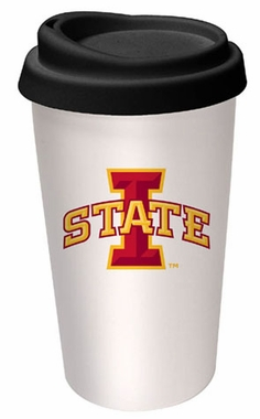 Iowa State Ceramic Travel Cup