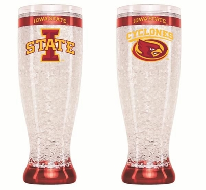 Iowa State Crystal Pilsner Glass