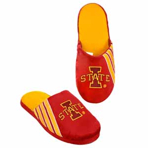 Iowa State Cyclones 2012 Team Stripe Logo Slippers - Medium