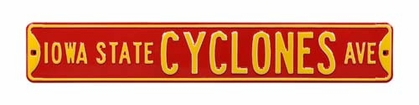 Iowa State Cyclones Ave Street Sign