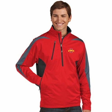 Iowa State Mens Discover 1/4 Zip Pullover (Team Color: Red)