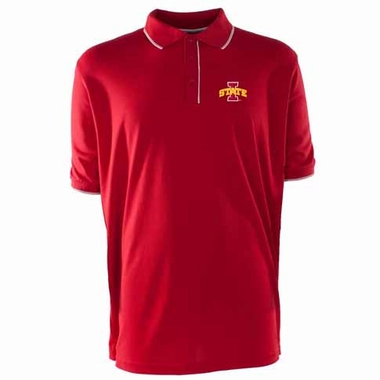 Iowa State Mens Elite Polo Shirt (Team Color: Red)