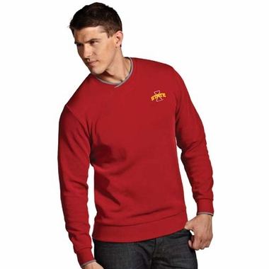 Iowa State Mens Executive Crew Sweater (Team Color: Red)