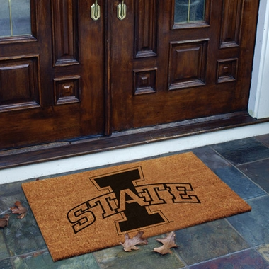 Iowa State Flocked Coir Doormat