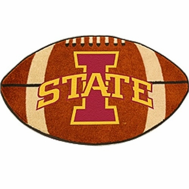 Iowa State Football Shaped Rug