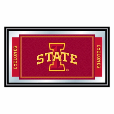 Iowa State Framed Logo Mascot Bar Mirror