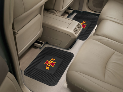 Iowa State SET OF 2 Heavy Duty Vinyl Rear Car Mats
