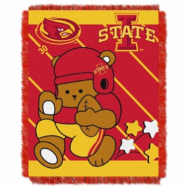 Iowa State Jacquard BABY Throw Blanket