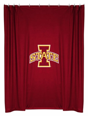 Iowa State Jersey Material Shower Curtain
