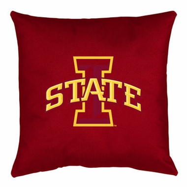 Iowa State Jersey Material Toss Pillow