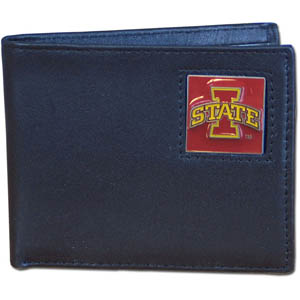 Iowa State Leather Bifold Wallet (F)
