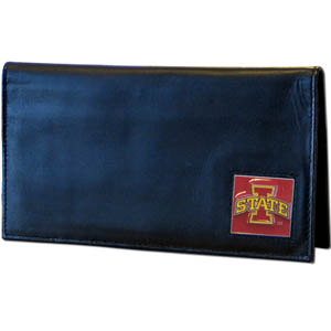 Iowa State Leather Checkbook Cover