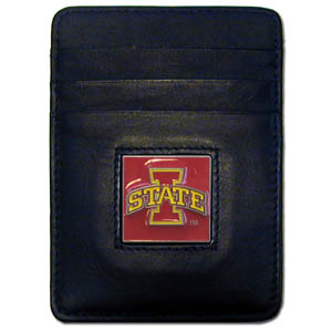 Iowa State Leather Money Clip (F)