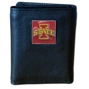 Iowa State Leather Trifold Wallet (F)
