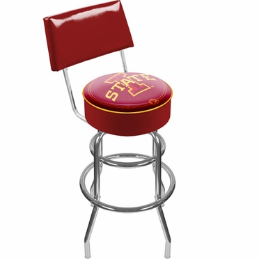 Iowa State Padded Bar Stool with Back