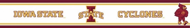Iowa State Peel and Stick Wallpaper Border