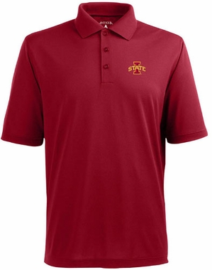Iowa State Mens Pique Xtra Lite Polo Shirt (Team Color: Red)