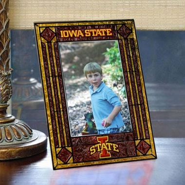 Iowa State Portrait Art Glass Picture Frame