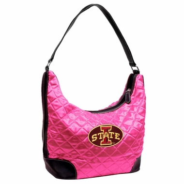 Iowa State Quilted Hobo Purse