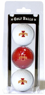 Iowa State Set of 3 Multicolor Golf Balls