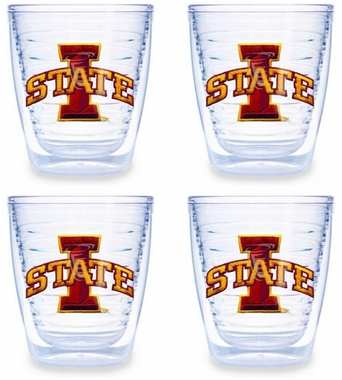 Iowa State Set of FOUR 12 oz. Tervis Tumblers