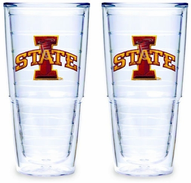 Iowa State Set of TWO 24 oz. Tervis Tumblers