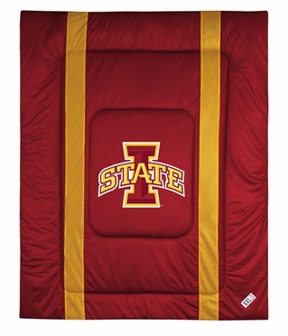 Iowa State SIDELINES Jersey Material Comforter