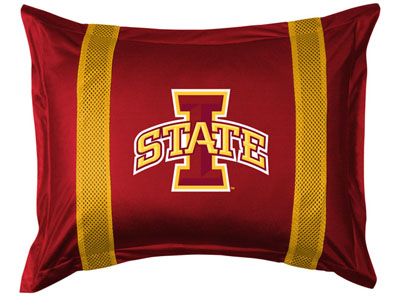 Iowa State SIDELINES Jersey Material Pillow Sham