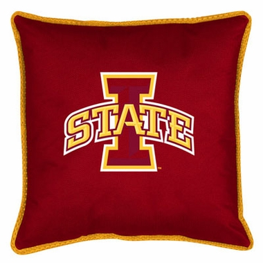 Iowa State SIDELINES Jersey Material Toss Pillow