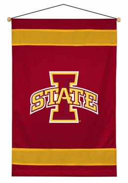 Iowa State SIDELINES Jersey Material Wallhanging