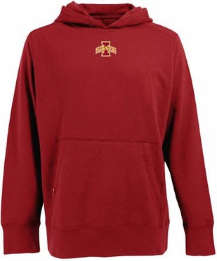 Iowa State Mens Signature Hooded Sweatshirt (Team Color: Red)