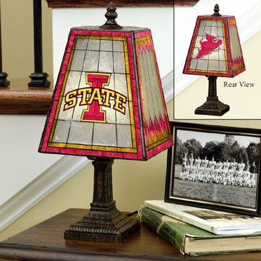 Iowa State Small Art Glass Lamp