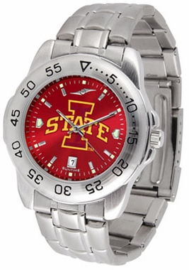 Iowa State Sport Anonized Men's Steel Band Watch