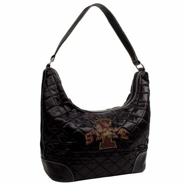 Iowa State Sport Noir Quilted Hobo