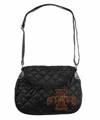 Iowa State Sport Noir Quilted Saddlebag