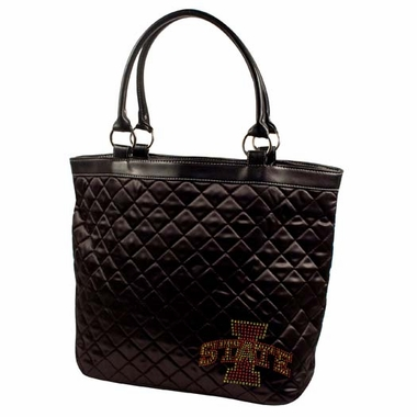 Iowa State Sport Noir Quilted Tote