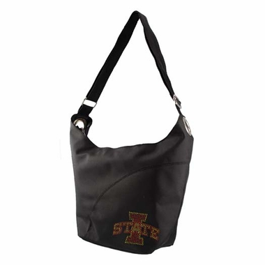Iowa State Sport Noir Sheen Hobo Purse