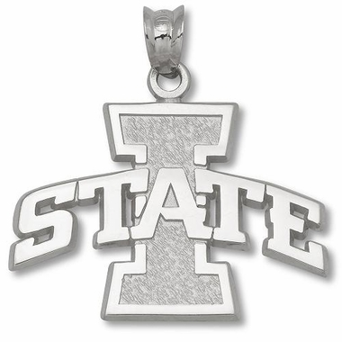 Iowa State Sterling Silver Pendant
