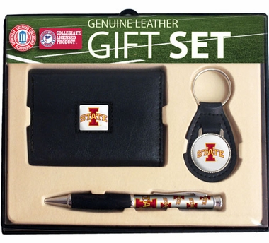 Iowa State Trifold Wallet Key Fob and Pen Gift Set